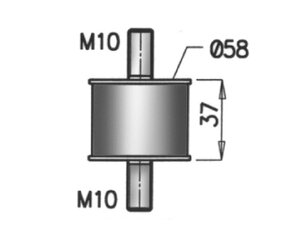 Rubber Mounting, M10