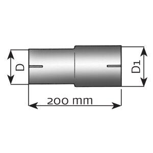 Łącznik rur, układ wydechowy