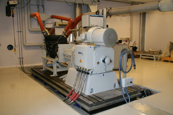 The Dinex Test Center has two Horiba transient engine dynos