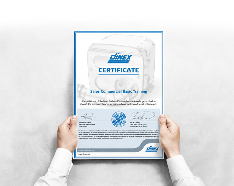 Dinex certificate