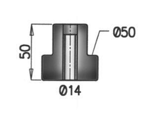 Rubber Mounting, ERF, Ø=50 /L=50, Rubber