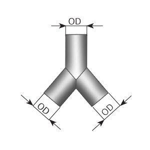 Y-Bending, OD=101.6 / L=170/150, ALU