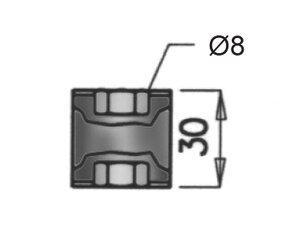 Rubber Mounting, Iveco, Ø=30 / L=30, M8, ZINC
