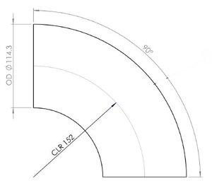 90° Elbow Cast OD=114.3 / T=2, INOX