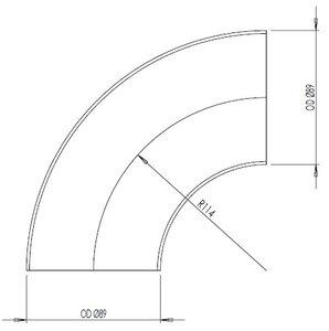 90° Elbow Cast OD=88.9 / T=2, INOX